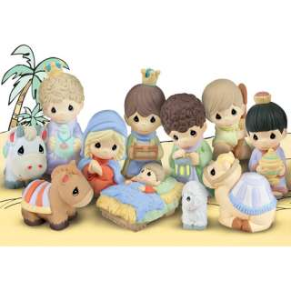 Precious Moments Paintable Nativity Set: Christmas Decor