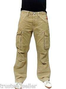 RELIGION Brand Jeans Mens Wheat Color Anthony Big T Cargo Pants