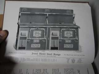 HUGE 1907 Jewel Stove Catalog LOADED 368 p. Hardcover   cast iron