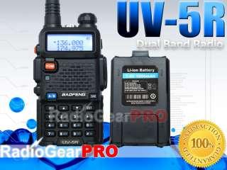 2012 BaoFeng UV 5R VHF/UHF Dual Band Radio 136 174 400 480 Mhz + extra