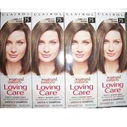 Clairol Loving Care #75 Light Ash Brown Hair Color (Pack of 4