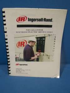 INGERSOLL RAND PORTABLE POWER SERVICE TOOLS CATALOG