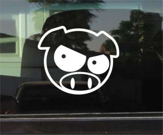 EVIL RALLY PIG JDM SUBARU VINYL DECAL / STICKER PAIR
