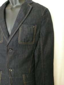 155 Armani Exchange men workwear denim jeans jacket blazer casual