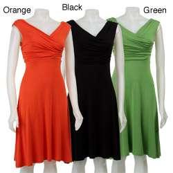 Spense Womens High waist Draped Sleeveless Dress