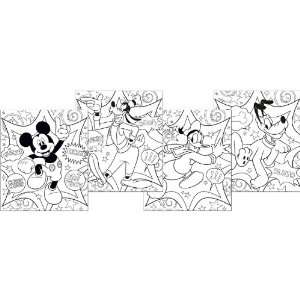 By Hallmark Disney Mickey Fun and Friends Color Your Own Poster Set
