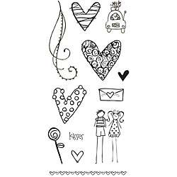 Fiskars Valentines Day Clear Stamps