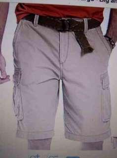 ARIZONA JEAN CO * BIG & TALL Mens Cargo Shorts BAMBOO TAN Sz 48