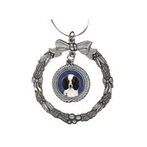 Poodle Toy Black White Pewter Christmas Ornament