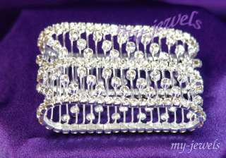 Wedding Bridal Crystal Bangle Bracelet B004