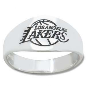 Angeles Lakers Mens Sterling Silver Cigar Band Ring Sports & Outdoors