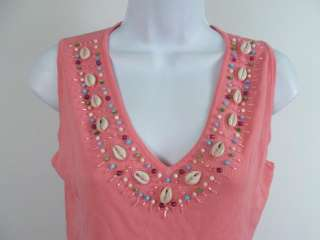 NWT ADORE Pink Sleeveless Shell Tank Top Shirt Size M