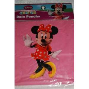 Disney Mickey Mouse Clubhouse Pink Minnie Mouse Rain Poncho  Size