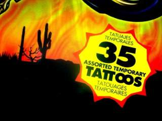 35 Assorted Temporary TATTOOS MOTORCYCLE SKULL Choppers