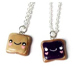 Peanut Butter and Jelly Best Friends Necklaces   Set of 2 Included