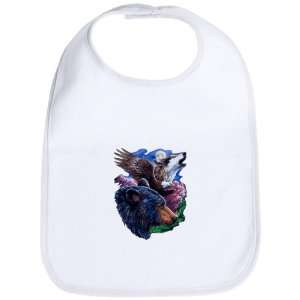 Baby Bib Cloud White Bear Bald Eagle and Wolf: Everything Else