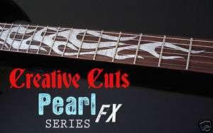 FLAMES MOP DOTBUSTER Vinyl Decal Guitar Inlay Set