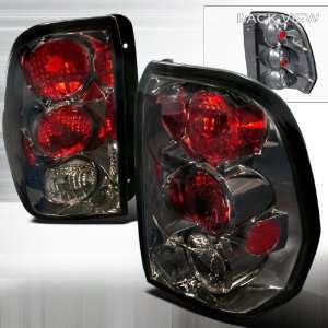 02 05 Chevy Trailblazer Altezza Tail Lights Gunmetal