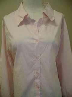 Multiplicity Long Sleeve Button Front Woven Shirt Pink