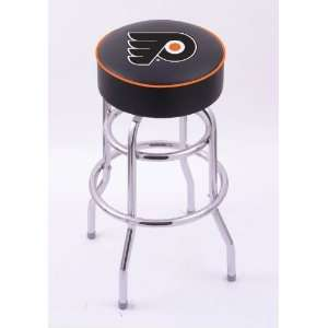 Philadelphia Flyers Double Rung Chrome Swivel Bar Stool