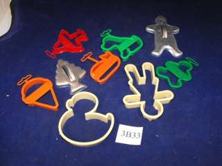 VTG Wilton Cookie Cutters Lot 9 Puppy Whale Ice Cream