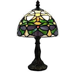 Tiffany style Green Jeweled Lamp