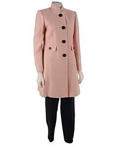 Tahari Womens Long Coat Pant Suit