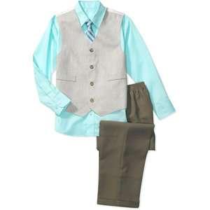 George   Boys 4 Piece Shirt, Tie, Vest and Pants Set