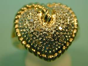 14k solid gold Diamond heart ladies ring fine perfect gift