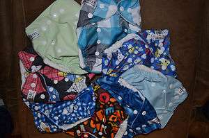 Sunbaby Cloth Diapers w/ new microfiber insert   Pocket Diapers