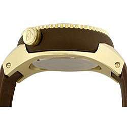 Swiss Legend Mens Neptune Brown Rubber Strap Watch  Overstock