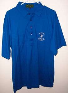 St Andrews The Old Course Mens Polo Golf Shirt XL Blue