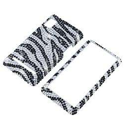 Silver/ Black Zebra Case for Motorola Droid 2 A955