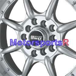16 16x8 XXR 002 Silver Rims Wheels Stance 5x100 5x114.3 5x4.5 Deep