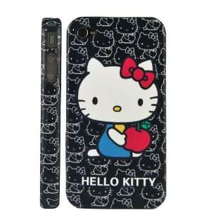 Hello Kitty & Apple Stick Skin Hard Case Cover For iPhone 4 (AT&T Only