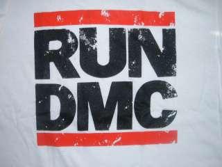 RUN DMC White short sleeve T shirt NWOT S 3XL Vintage Style JMJ RUN