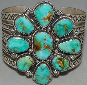 TURQUOISE MOUNTAIN Turquoise Sterling Silver Bracelet by Mike Thompson