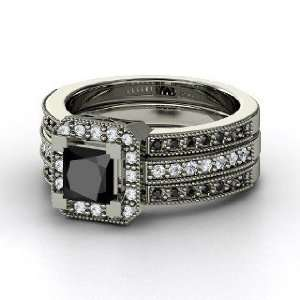 Va Voom Ring, Princess Black Diamond Sterling Silver Ring with Diamond