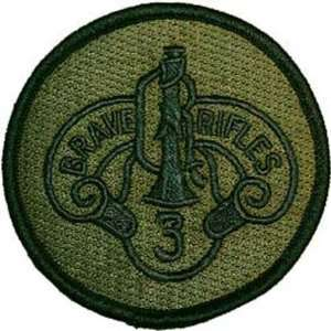 U.S. Army 3rd Armored Cavalry Regiment Patch Green Patio