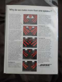 1980 Print Ad BOSE Stereo Speakers Models 301 501 601 and 901 |