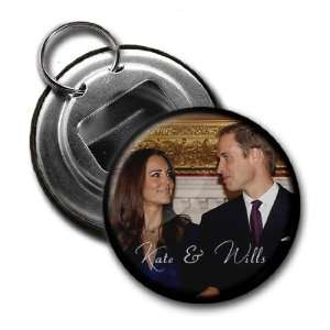 Creative Clam Prince William Kate Middleton Royal Wedding 2.25 Button