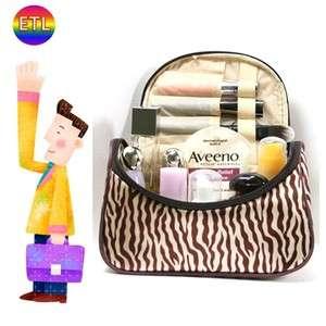 Ladies Women Zebra Cosmetics MakeUp Pocket Pouch Purse Beauty Mirror