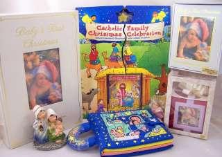 Kids Christmas Lot Nativity Childrens Book Keepsake Box Nativity Set