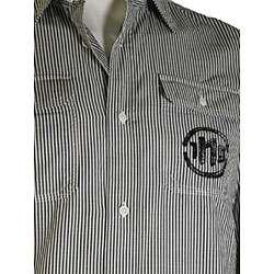 Diesel Mens Black Pinstripe Shirt
