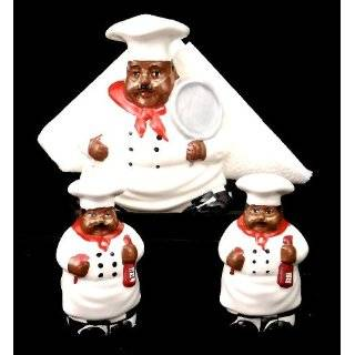 New Fat Bistro Chef Cookie Jar Black Ethnic African American