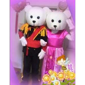 Uniform wedding bear cartoon Character Costume Toys & Games