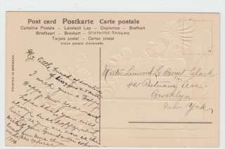 Children On Stacks of Money Happy New Year 1910 Embossed Postcard