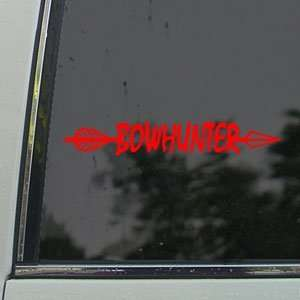 BowHunter Red Decal Bow Deer Hunter Hunting Car Red