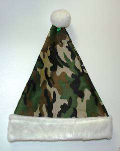 Camo, Camouflage, Hunting, Army, Christmas Santa Hat