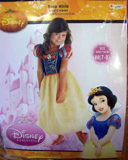 NIP NEW DISGUISE DISNEY PRINCESS SNOW WHITE COSTUME DRESS UP MEDIUM 7